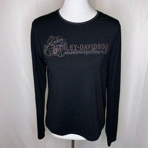 Harley-Davidson Women's Black Long Sleeve Top